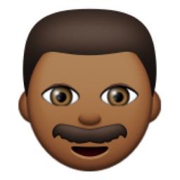 👨🏾 Deeper Brown Man Emoji (U+1F468, U+1F3FE) | Emoji
