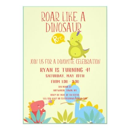Dinosaur birthday party invite birthday cards invitations party dinosaur birthday party invite birthday cards invitations party diy personalize customize celebration bookmarktalkfo Image collections