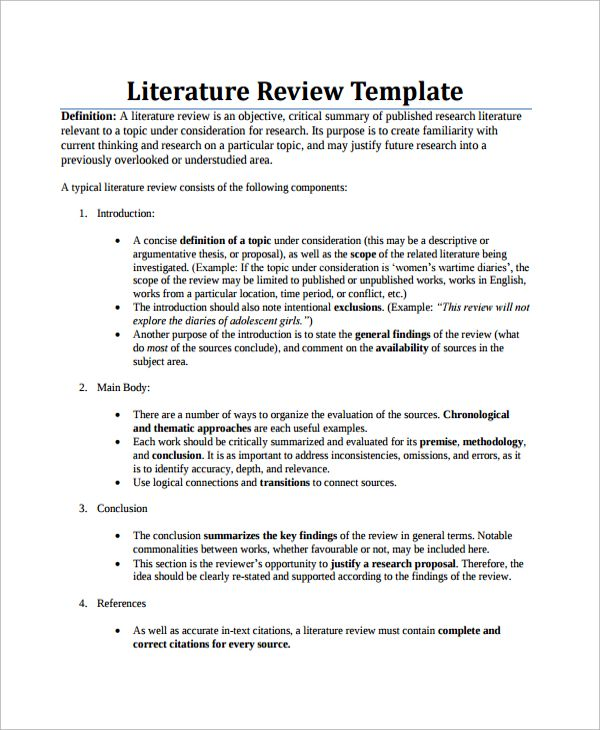 Term paper british literature
