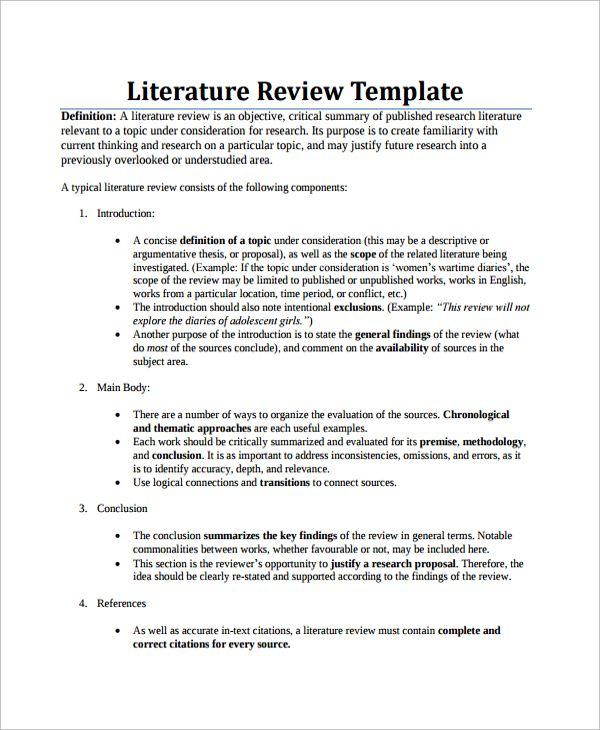 apa literature review paper