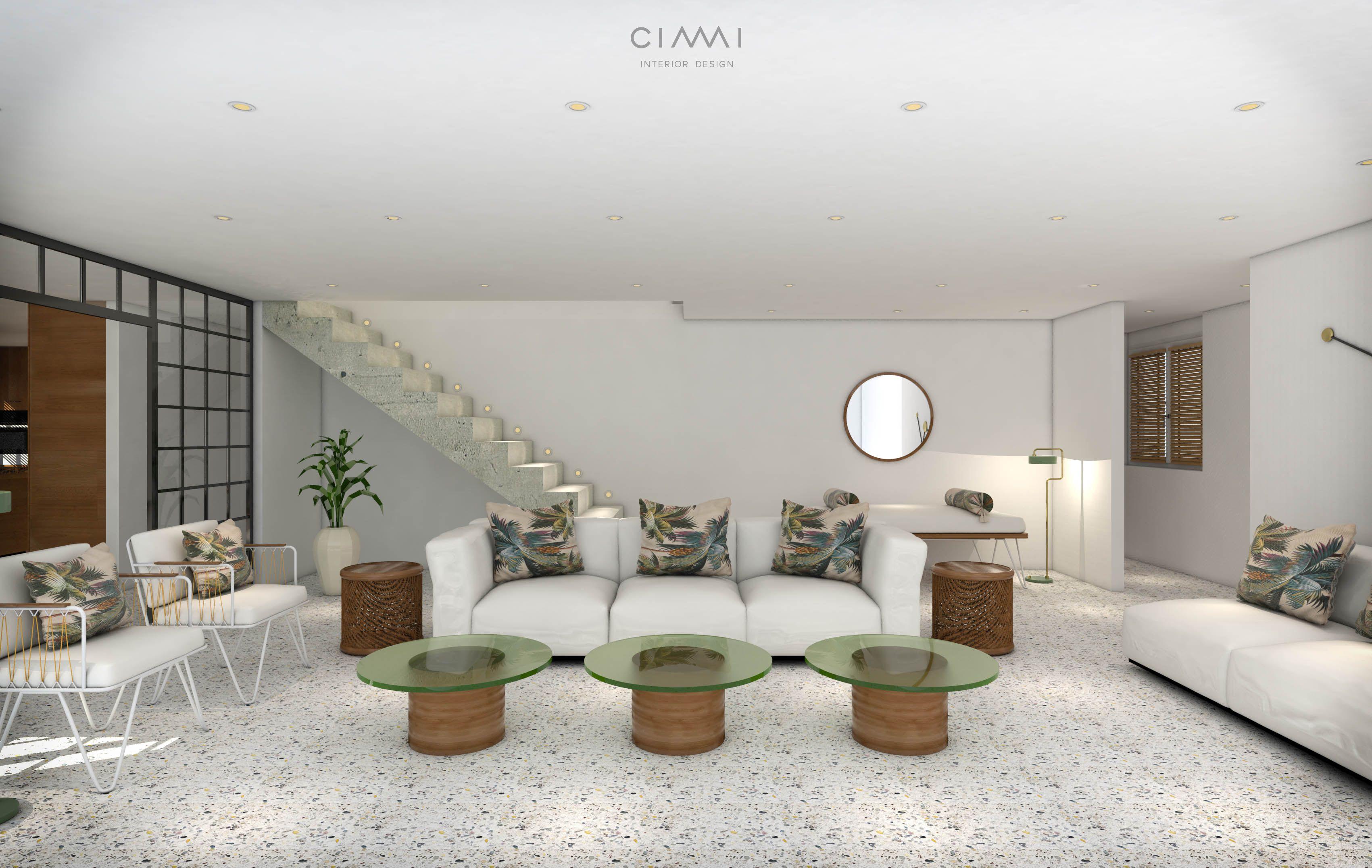 Living Room 3D Design Living Room 3D Visualisation Of A 163M2 Duplex Apartment  Cimi