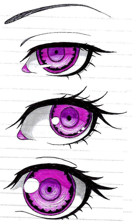 Purple Eyes by mesleepy Purple eyes, Drawings, Sketches