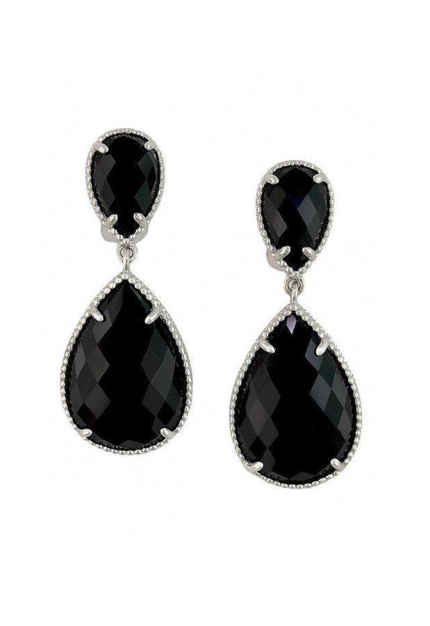 Designer Handmade Earring 925 Sterling Silver Pear Stone Earrings Women Wedding Jewelry Gift Idea Natural Black Onyx Gemstone Earrings