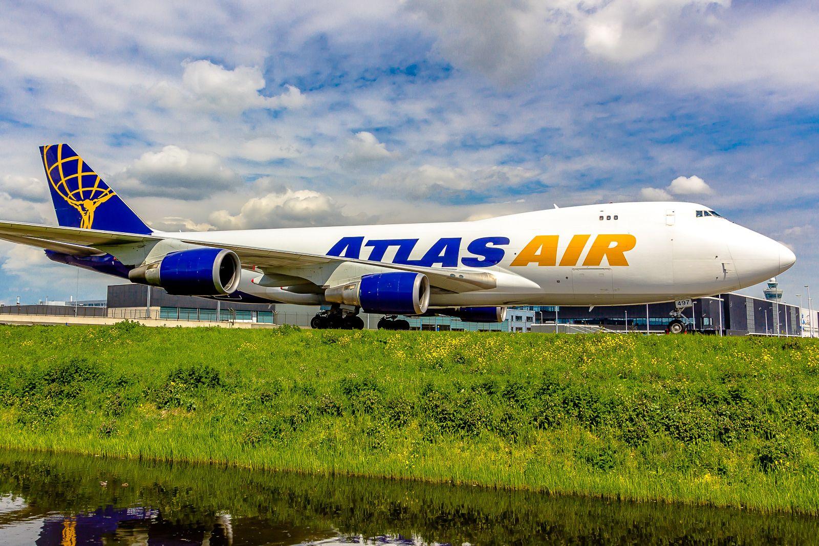 Boeing 74747UF Atlas Air N497MC (AMS) Atlas air, Boeing