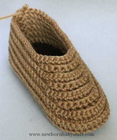 Crochet Baby Booties Crocheted Soccasins  A Free Pattern by Megan Mills...
