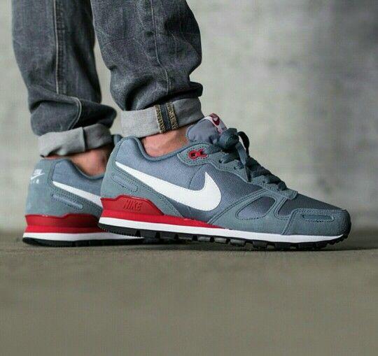 Nike Air waffle trainer, blue graphite white gym red | Nike