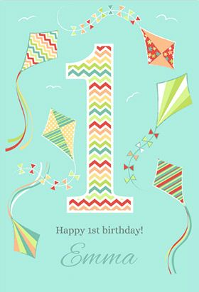 Fun 1st Birthday Printable Card Customize Add Text And Photos Print For Free