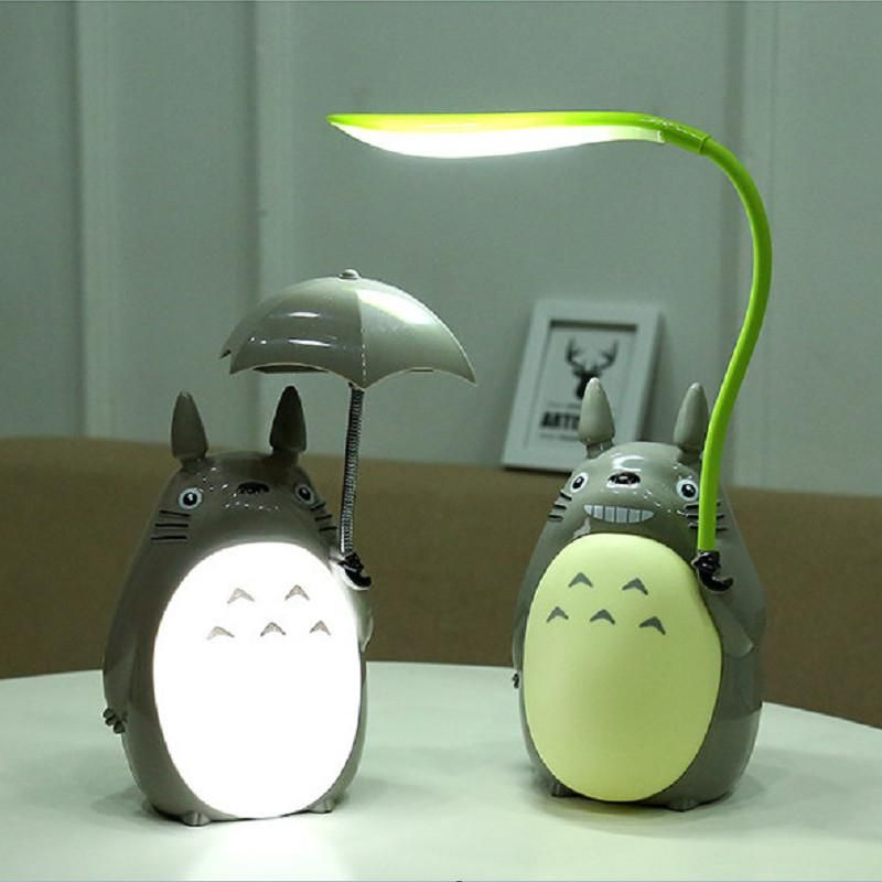 Totoro Rechargeable Table Lamp Led For Kids Home Decor In 2020 Night Light Cat Lamp Kawaii Room