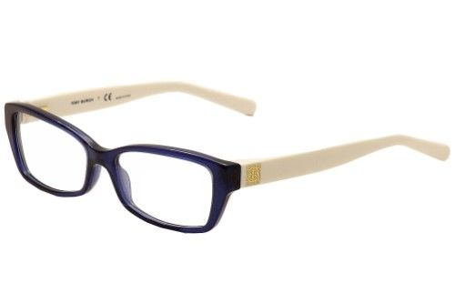 ef19818e9f40 Tory Burch Women's Eyeglasses TY2041 TY/2041 1284 Navy/Ivory Optical Frame  51mm, Beige