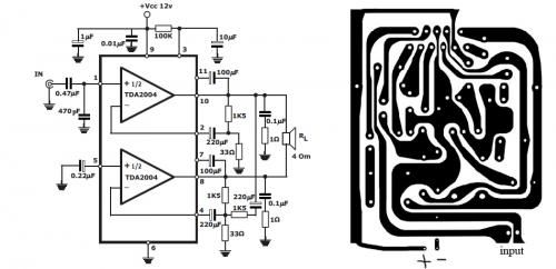 tda2005 audio amplifier circuits