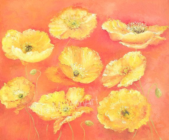 Art Nouveau Inspired California Poppy By Mason Larose: Poppy Painting, Poppies, Home Decor, Country Living