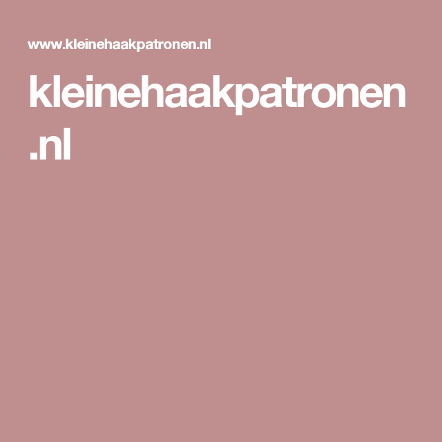 kleinehaakpatronen.nl