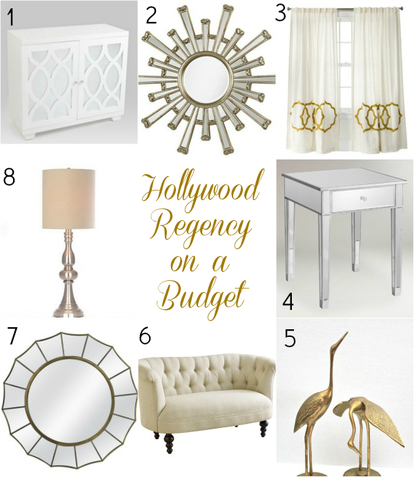 The Look On A Budget Hollywood Regency