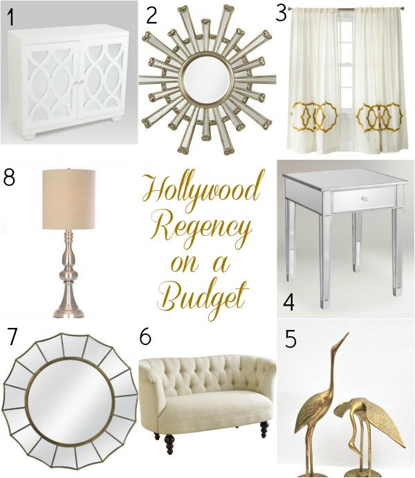 The Look On A Budget Hollywood Regency Regency Living Room