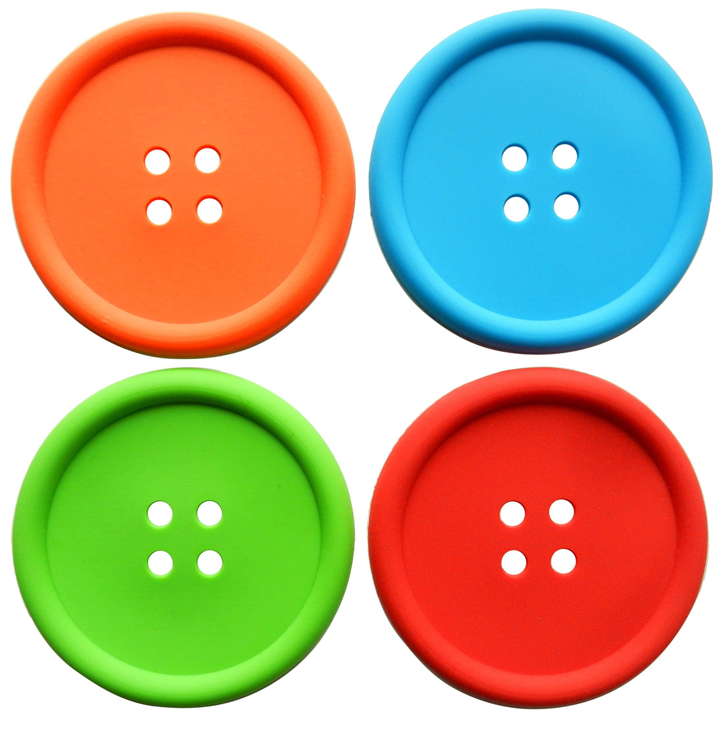 Coasters for drinks, set of 4,colorful table protection