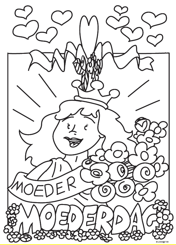 moederdag kleurplaten moederdag knutselen voor moederdag