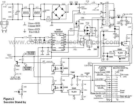diagrama de fuente stand by de tv lcd