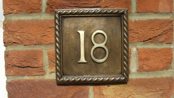 Square Door Number Rope Edge design 1 to 999 by Belladoresigns