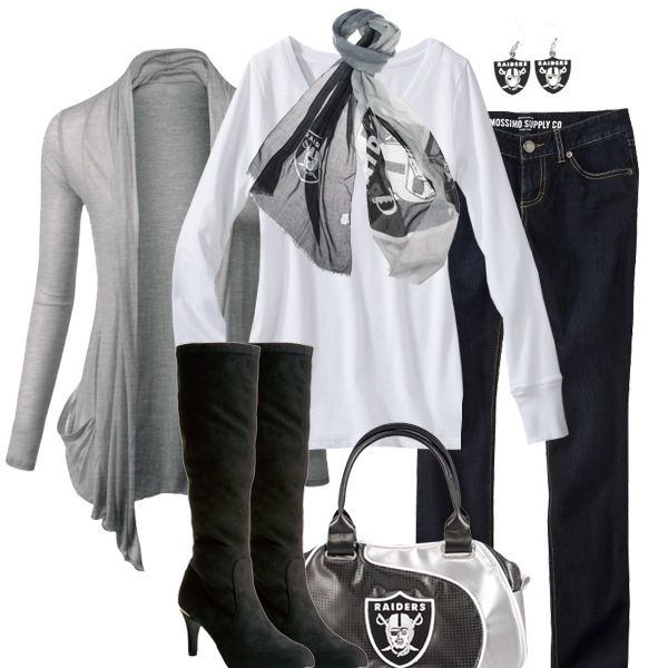 Oakland Raiders Rugby Scarf