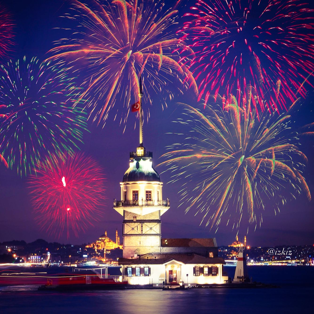 Edited With Deluxefx App Happy New Year Istanbul Turkey