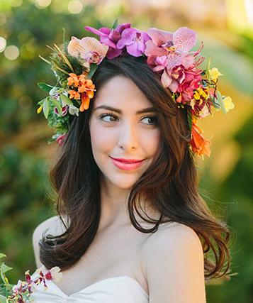 Tropical Flower Crown Flowers In Hair Bridal Headpieces Hair