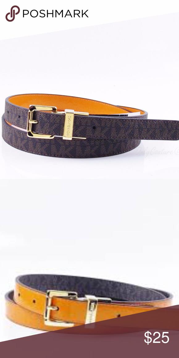 41de3b839c85 Michael Kors Reversible 20mm MK Logo Belt Michael Kors Women s 20mm  Reversible MK Logo PVC Belt