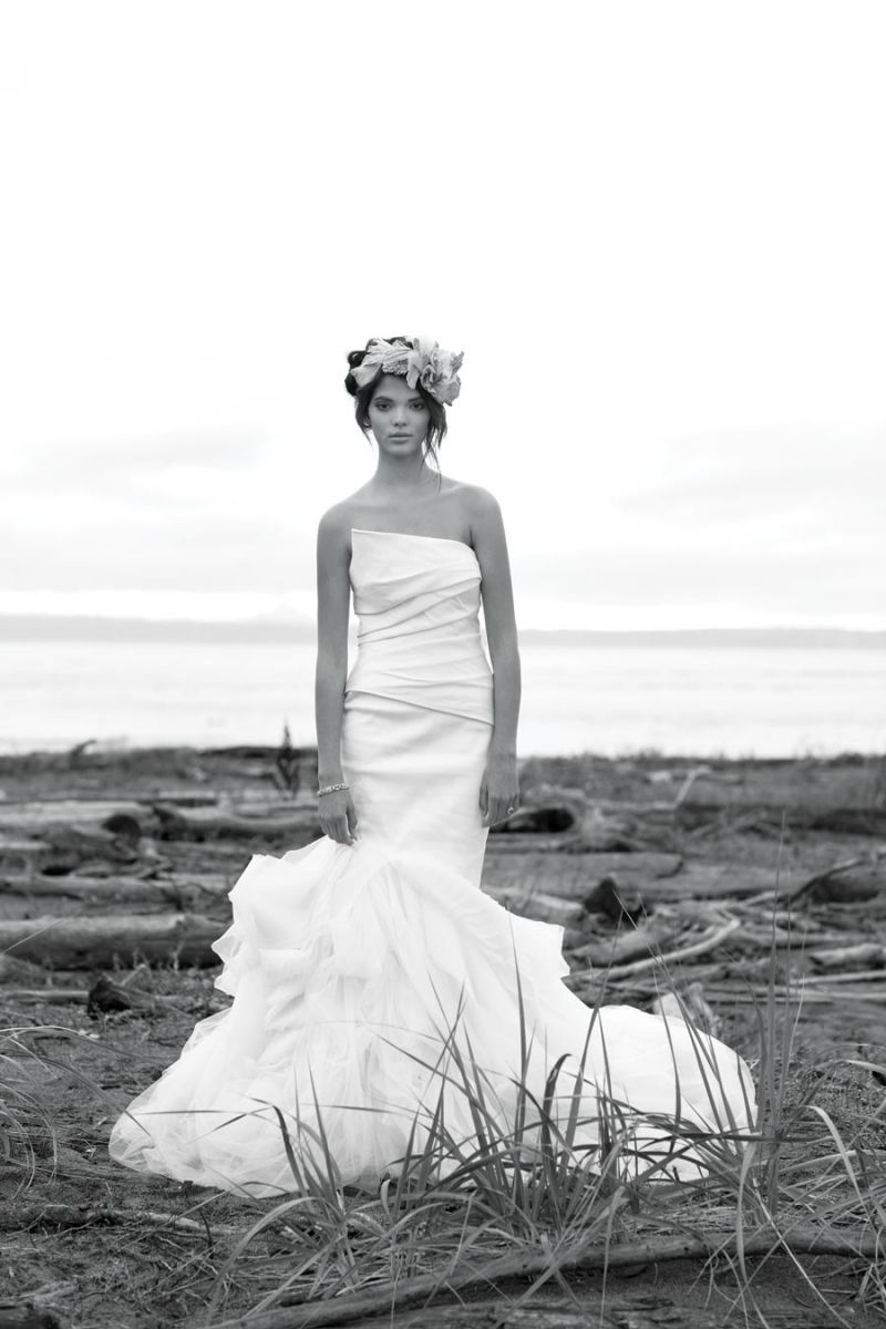 Beauty and the Beach: Photo by Ryan McVay, Vera Wang gown from ...