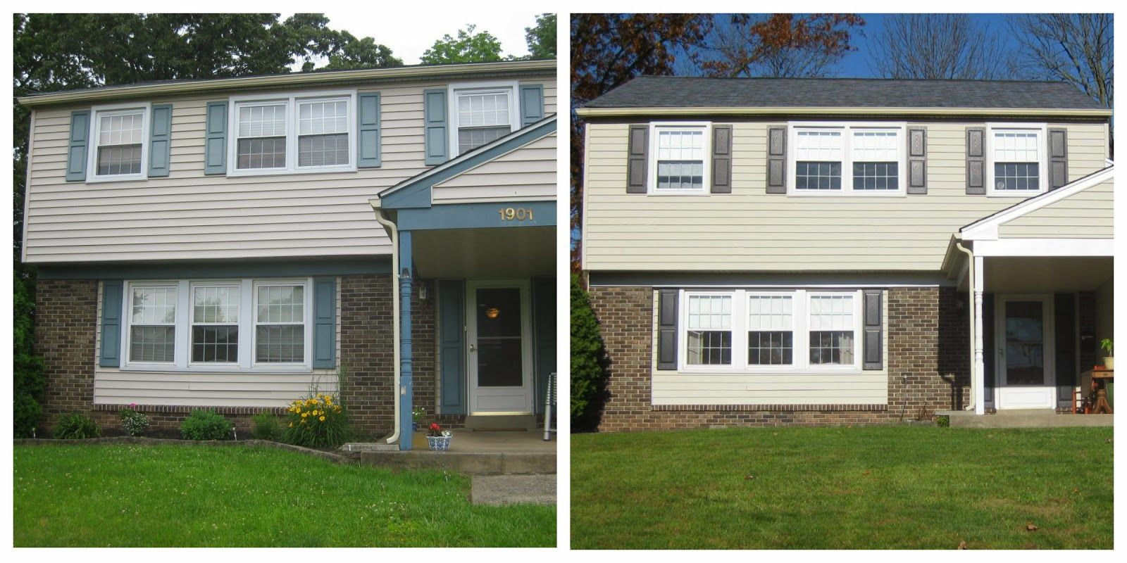 painted house trim makeover diy