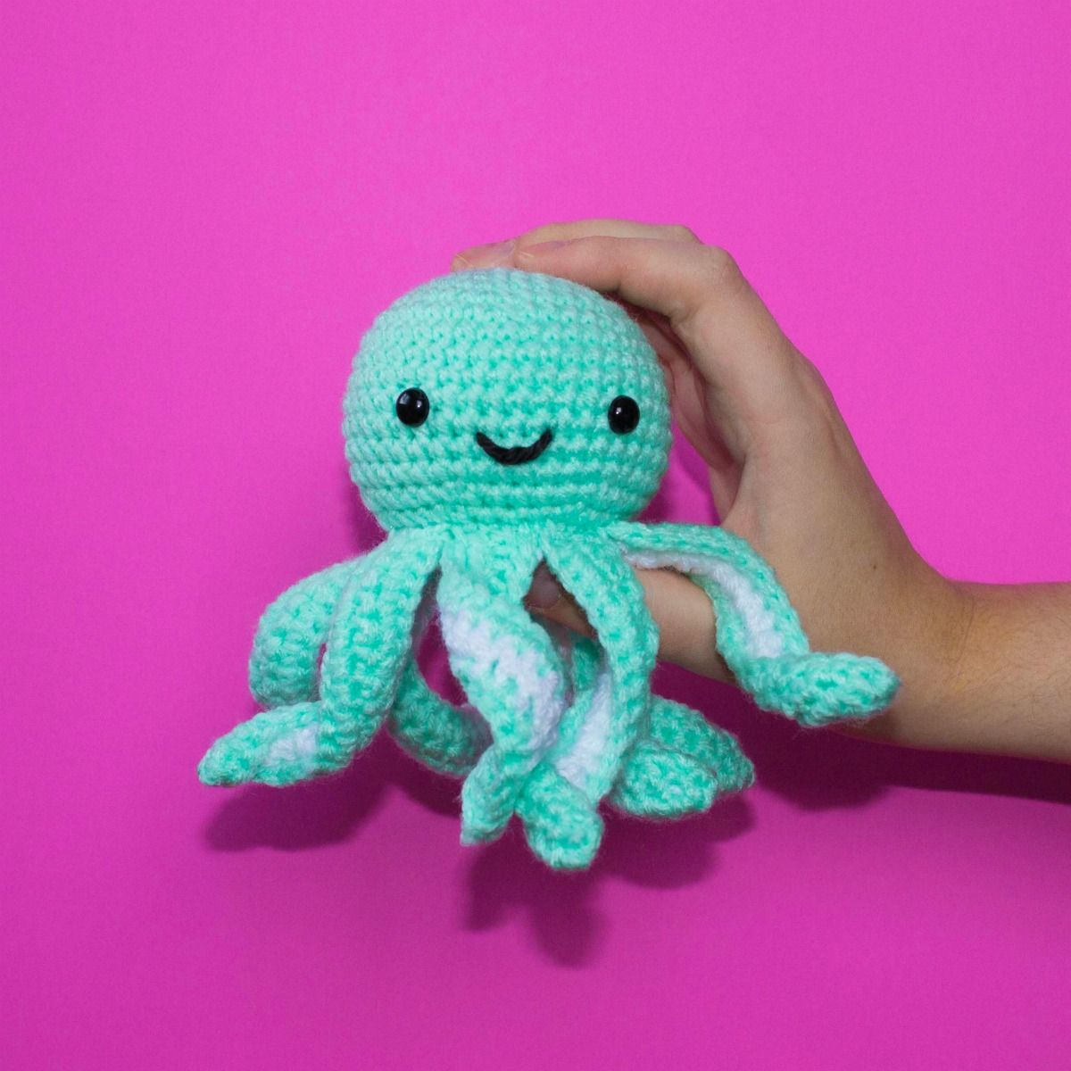 This mini crochet octopus is such a sweet little thing! Just a ...