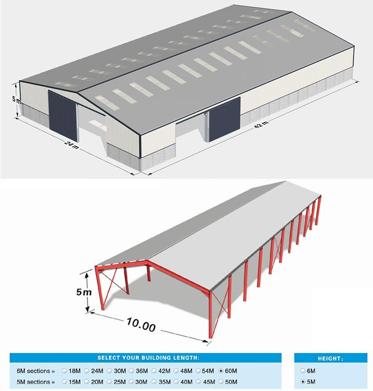 Hot Dip Galvanize Warehouse Buildings For Sale Made In China Steel Frame Shed Construcoes Metalicas Galpao Rustico Barraca