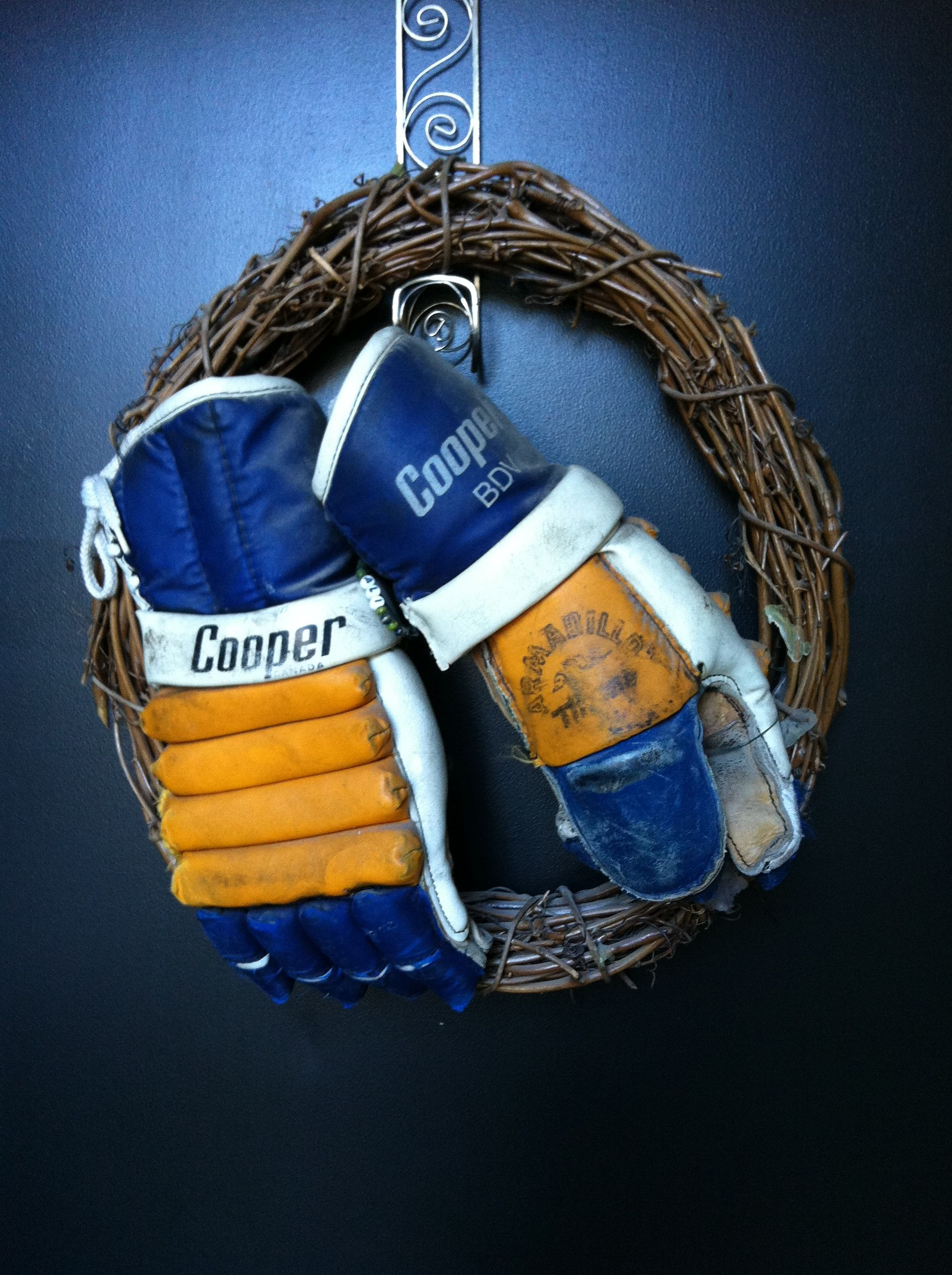 We all have old pairs of hockey gloves laying around! How