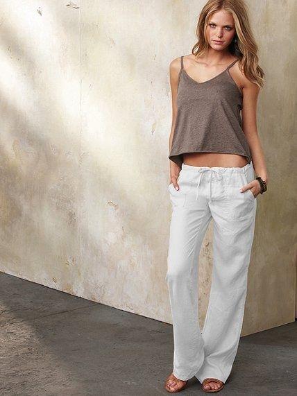 Y Hermosa De Comoda Para Primavera Verano Con Esta Pantalones Lino 1JKcT3lF