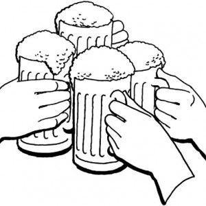 Cheers Holiday Of Beer Coloring Pages 300x300 Jpg 300 300 Coloring Pages Food Coloring Pages Color