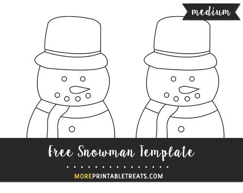 Free Snowman Template - Medium Size Shapes and Templates