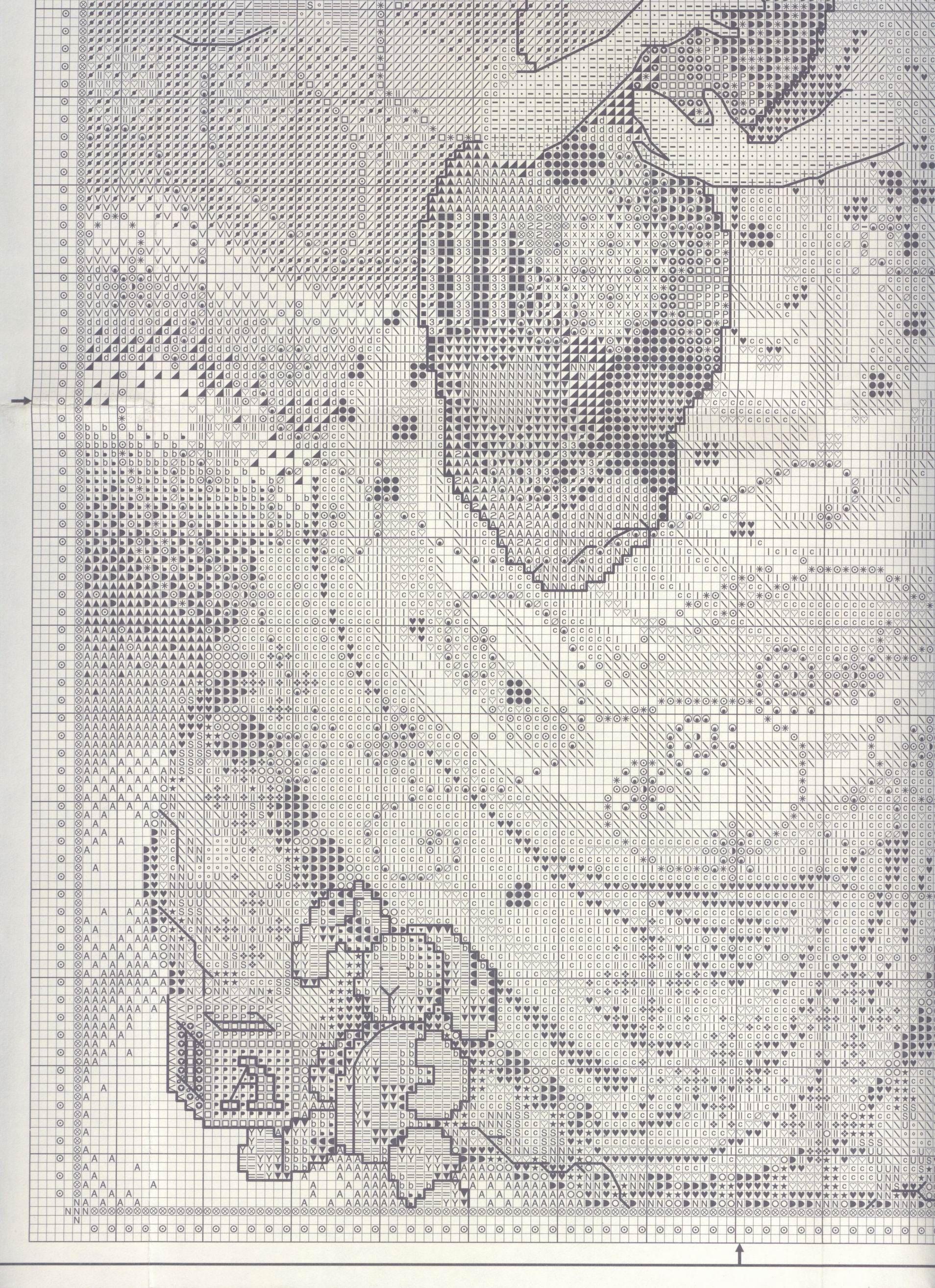 Mother\'s Arms 4/6 | punto de cruz 2 | Pinterest | Damas, Puntos y ...