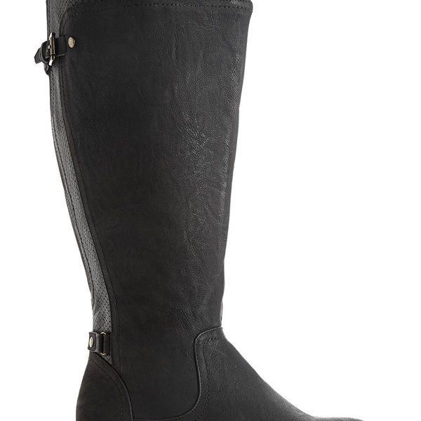 Koren Tall Faux Croc Boot-Extra Wide
