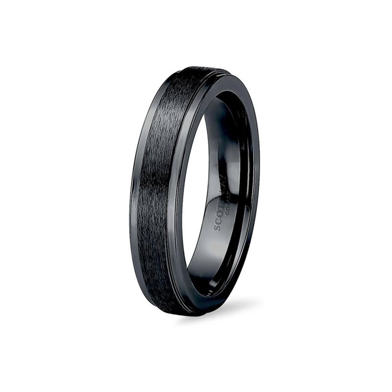 Black cobalt mens wedding band from the prime collection