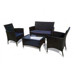 ensemble salon de jardin résine tressée table basse et sofa   Salon ...