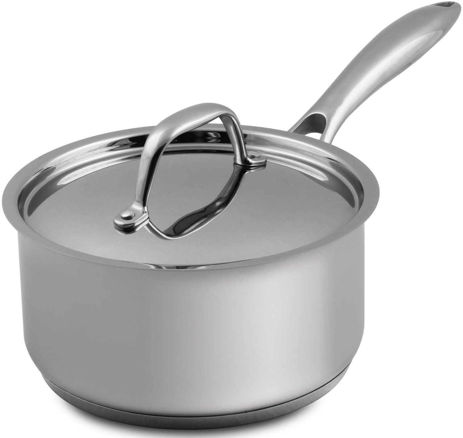 by Utopia Kitchen by Utopia Kitchen Saucepan with Cover 18//10 Stainless Steel 2 Quart Chefs Choice Multipurpose Use for Home Kitchen or Restaurant 18 x 9cm