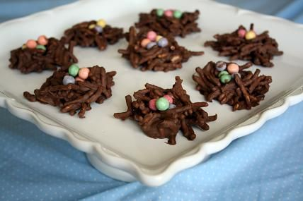 Day 5 birds and fish chocolate pretzel bird nests kidsclub chocolate pretzel bird nests could be an easter snack too negle Image collections