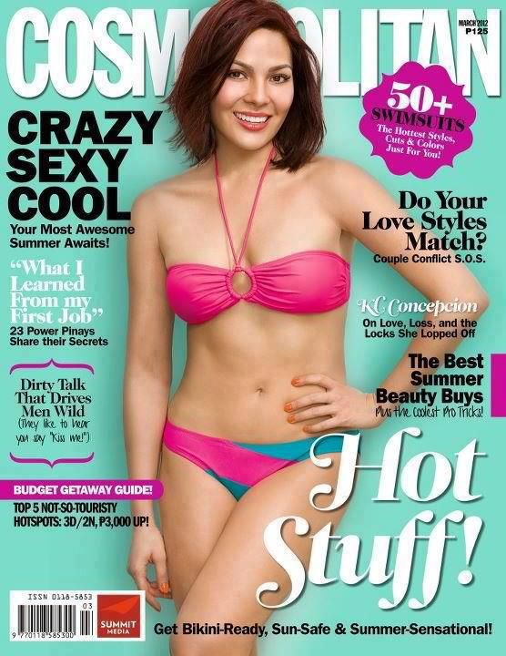 KC Concepcion is the cover girl again for Cosmopolitan Ph Magazine March 2012