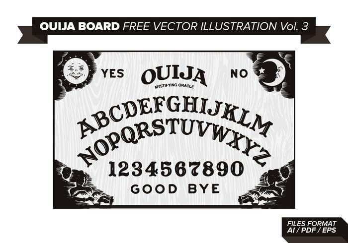 Ouija Board Free Vector Illustration Vol 3 Free Vector Illustration Vector Free Vector Illustration