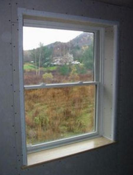 Drywall return for awkward window built in storage for Drywall around windows