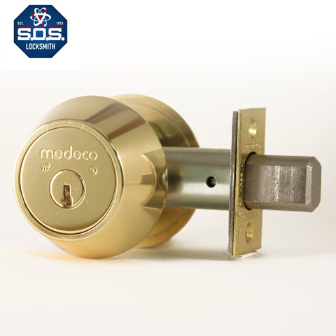 These classic commercial style Medeco M3 deadbolt lock are high