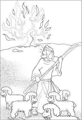 Me Aburre La Religion Dios Habla Con Moises La Zarza Ardiente Zarza Ardiente Artesanias De Historia De La Biblia Paginas Para Colorear De Biblia