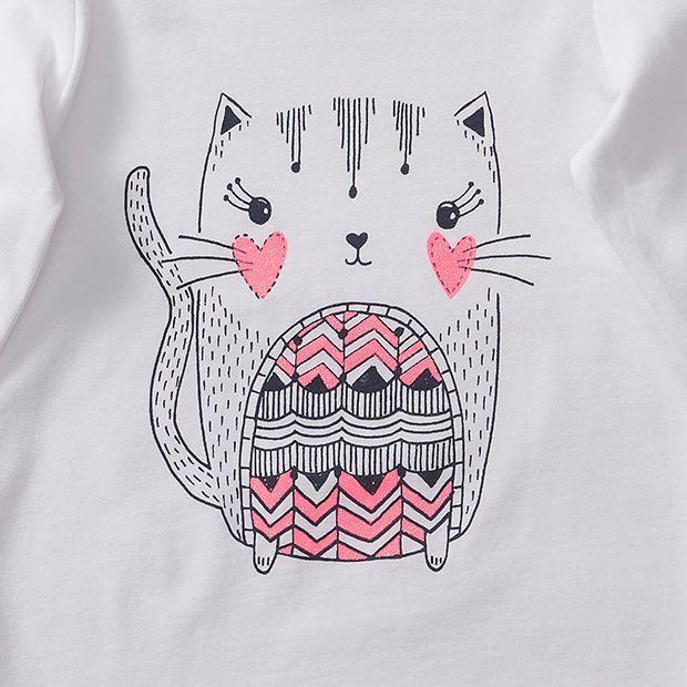 Baby Long Sleeve Cat T-Shirt