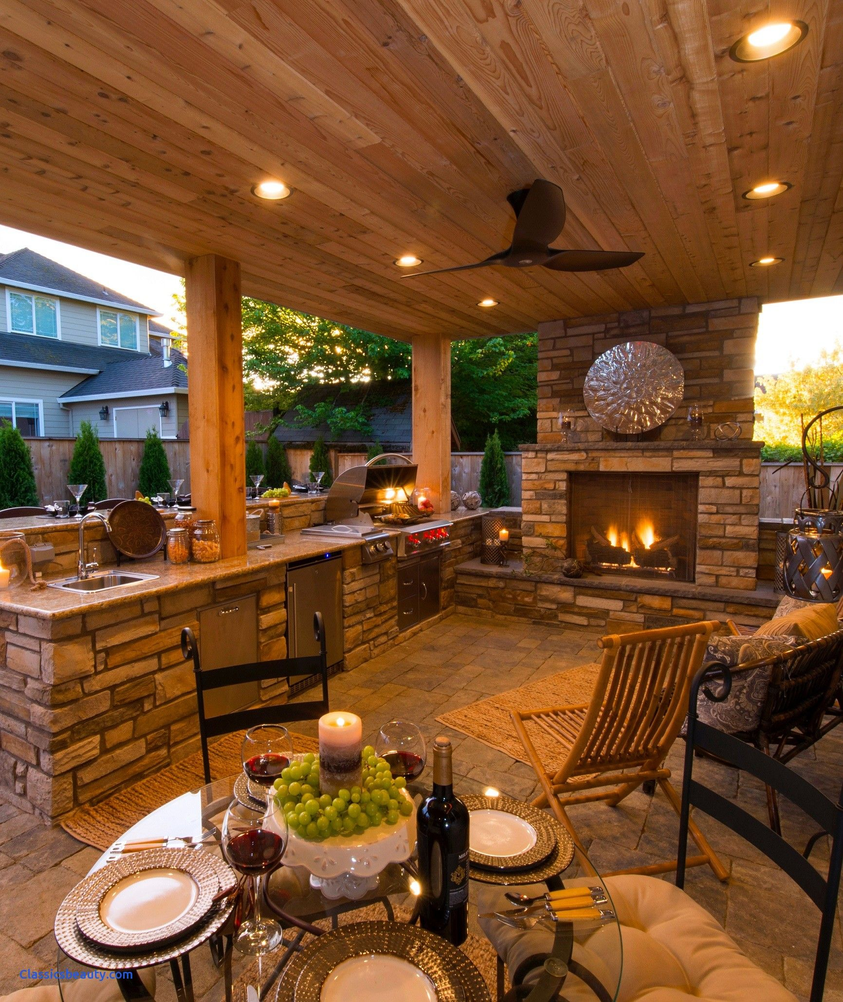 Inspirational Outdoor Kitchen Ideas For Small Spaces Outdoor Kitchen Ideas Images Outdoor Outdoor Fireplace Designs Rustic Outdoor Fireplaces Outdoor Kitchen