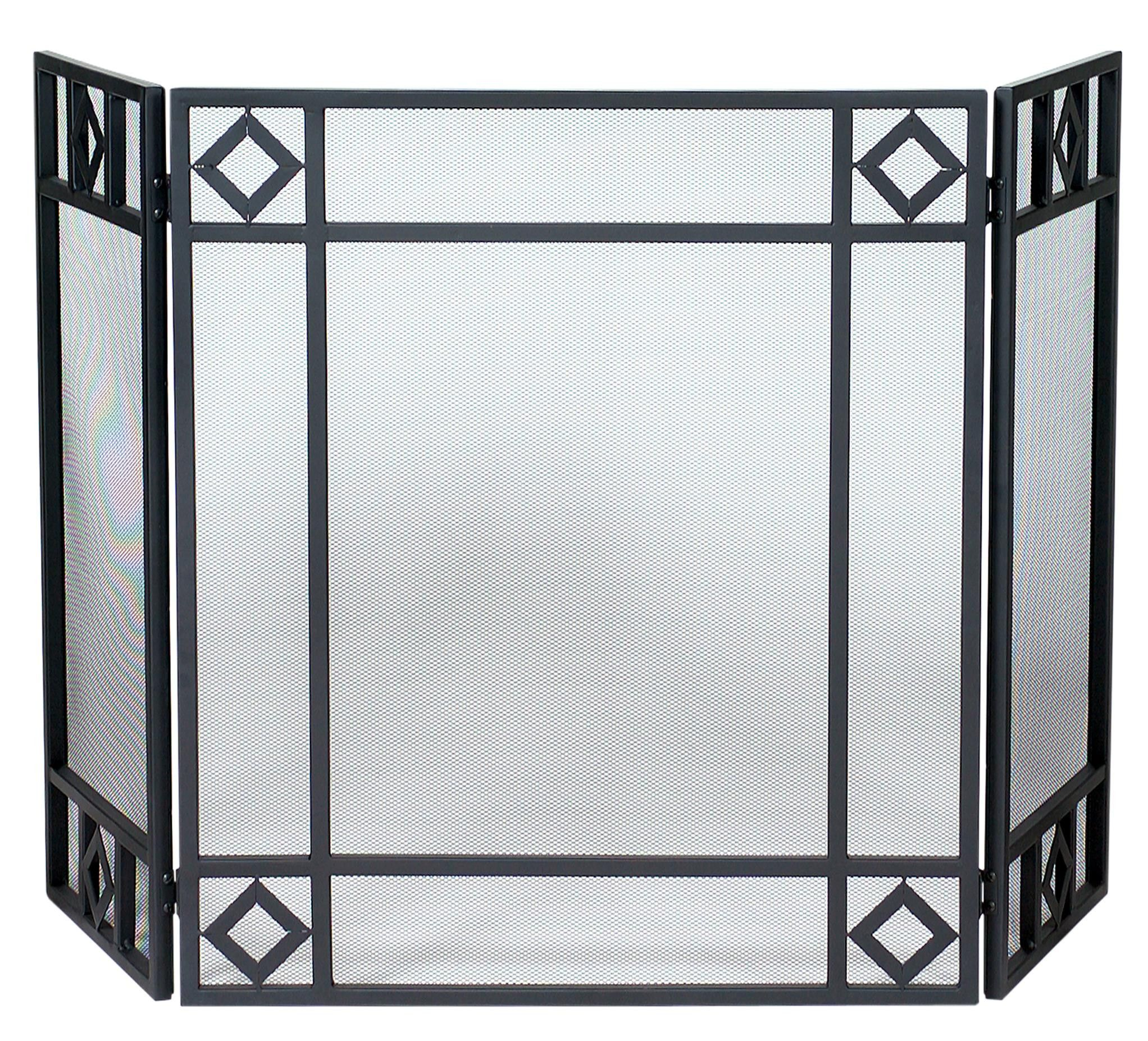 3 fold wrought iron screen with its popular black wrought iron