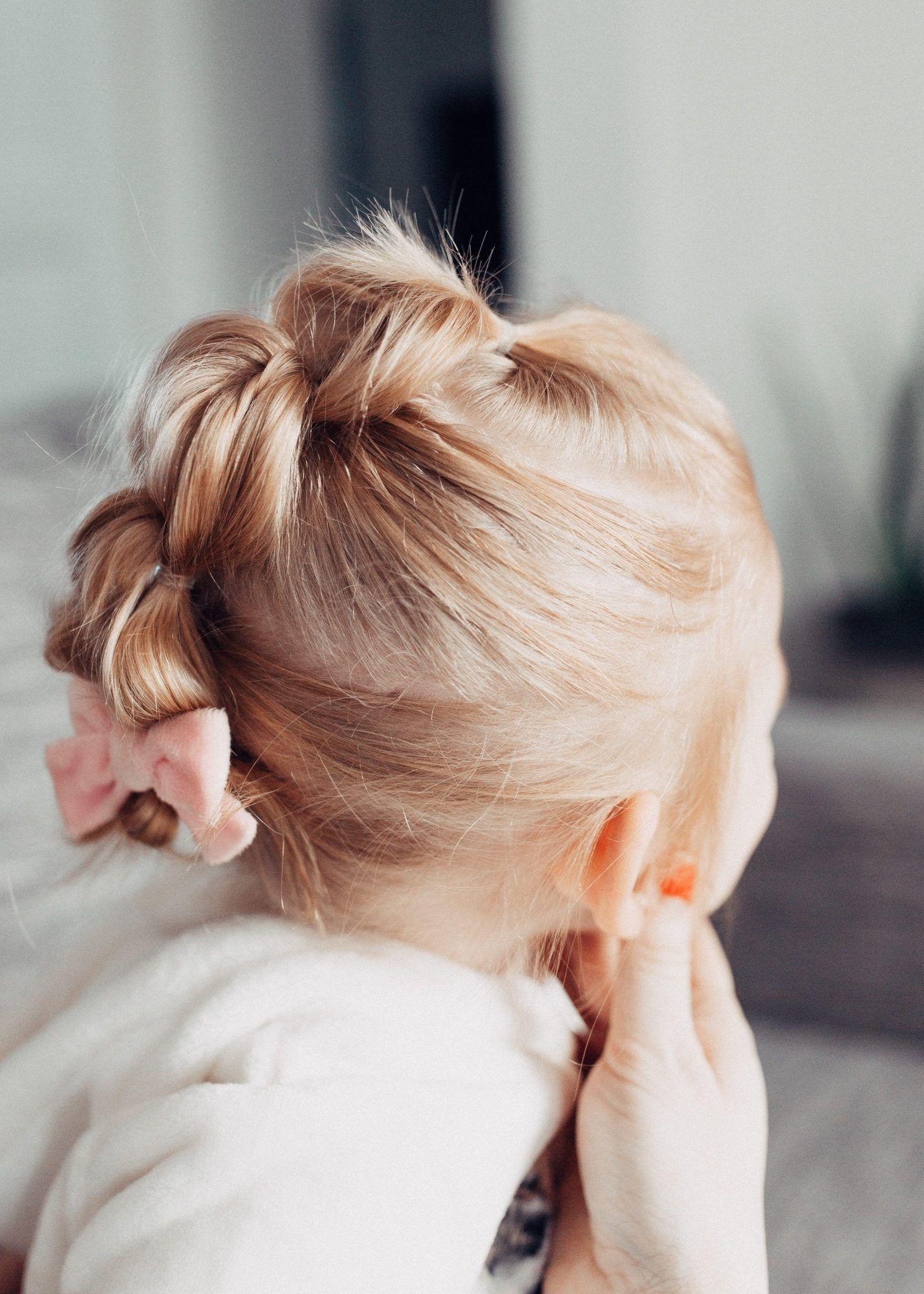 Easy bubble ponytail tutorial for toddler easy toddler