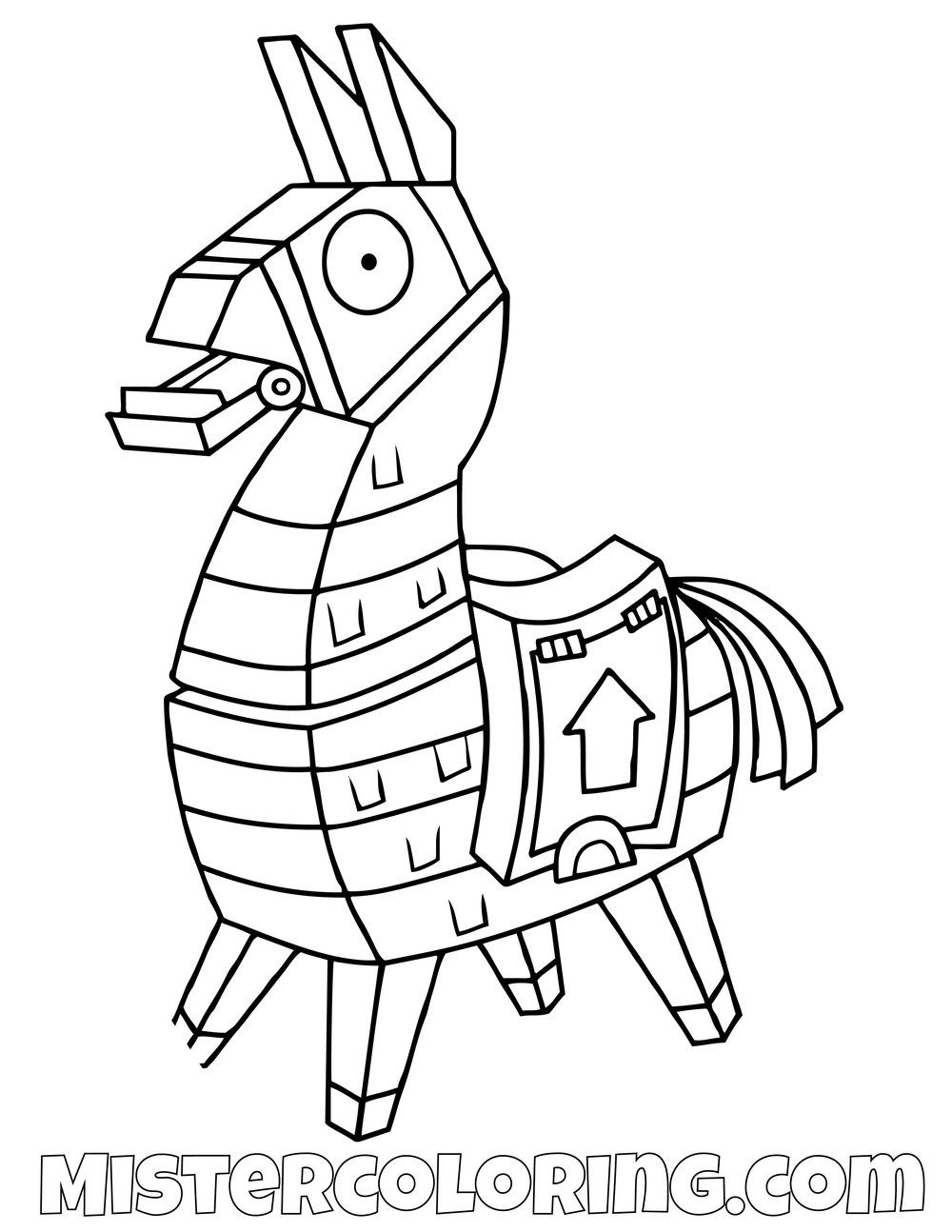 Free Llama Fortnite Coloring Page For Kids In 2019
